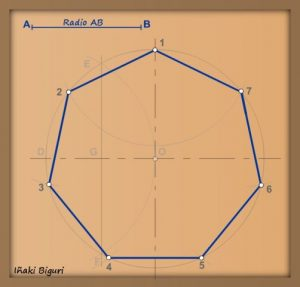 Cómo Dibujar 7 Lados Un Heptágono Fácil Paso a Paso