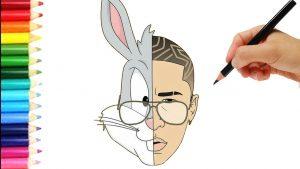 Dibujar A Bad Bunny Fácil Paso a Paso