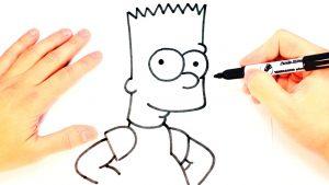 Cómo Dibuja A Bart Simpson Fácil Paso a Paso