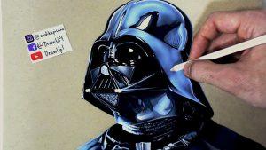 Dibuja A Darth Vader De Star Wars Fácil Paso a Paso