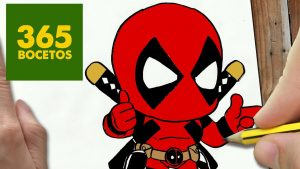 Cómo Dibujar A Deadpool Kawaii Paso a Paso Fácil