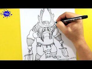 Dibujar A Kai De Kung Fu Panda 3 Paso a Paso Fácil