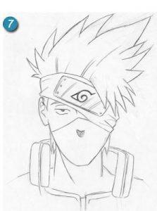 Dibujar A Kakashi De Naruto Paso a Paso Fácil