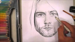 Dibuja A Kurt Cobain Paso a Paso Fácil