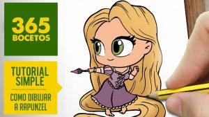 Cómo Dibuja A La Princesa Rapunzel De Disney Enredados Fácil Paso a Paso