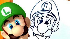 Dibuja A Luigi Fácil Paso a Paso