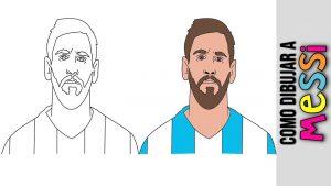 Dibujar A Messi Paso a Paso Fácil