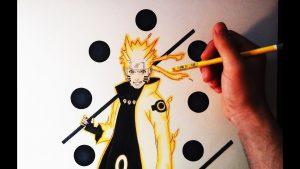 Cómo Dibuja A Naruto Sabio Paso a Paso Fácil