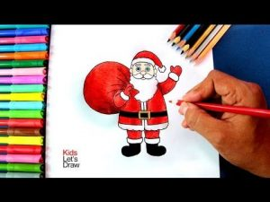 Dibujar A Papa Noel Paso a Paso Fácil