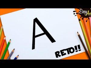 Dibuja A Partir De La Letra A Paso a Paso Fácil