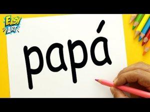 Dibujar A Partir De La Palabra Papa Paso a Paso Fácil
