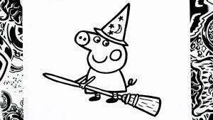 Dibuja A Peppa Pig Para Halloween Paso a Paso Fácil