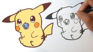 Dibujar A Pikachu Bebé Paso a Paso Fácil