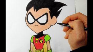 Dibuja A Robin De Teen Titans Go Paso a Paso Fácil