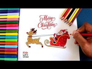 Cómo Dibuja A Santa Claus Con Su Trineo Para Navidad Fácil Paso a Paso