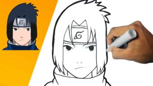 Cómo Dibujar A Sasuke Paso a Paso Fácil
