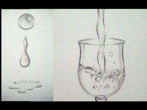 Cómo Dibuja Agua A Lápiz Fácil Paso a Paso