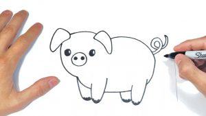 Dibujar Animales De Granja Fácil Paso a Paso