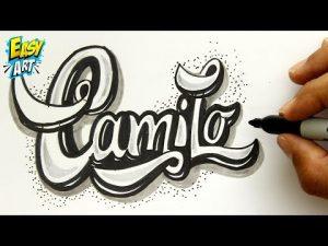 Cómo Dibujar El Nombre Camilo En Relieve Fácil Paso a Paso