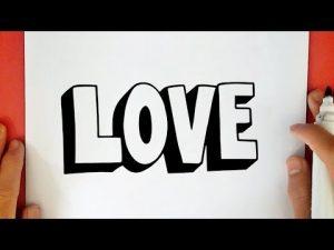 Cómo Dibujar I Love You En 3D Paso a Paso Fácil