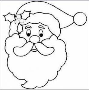 Dibujar La Cara De Santa Claus Para Navidad Fácil Paso a Paso