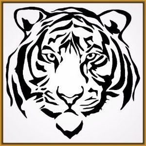 Dibuja La Cara De Un Tigre Fácil Paso a Paso