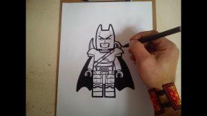 Dibuja Lego Batman Fácil Paso a Paso
