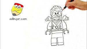 Dibuja Lego Ninjago Paso a Paso Fácil
