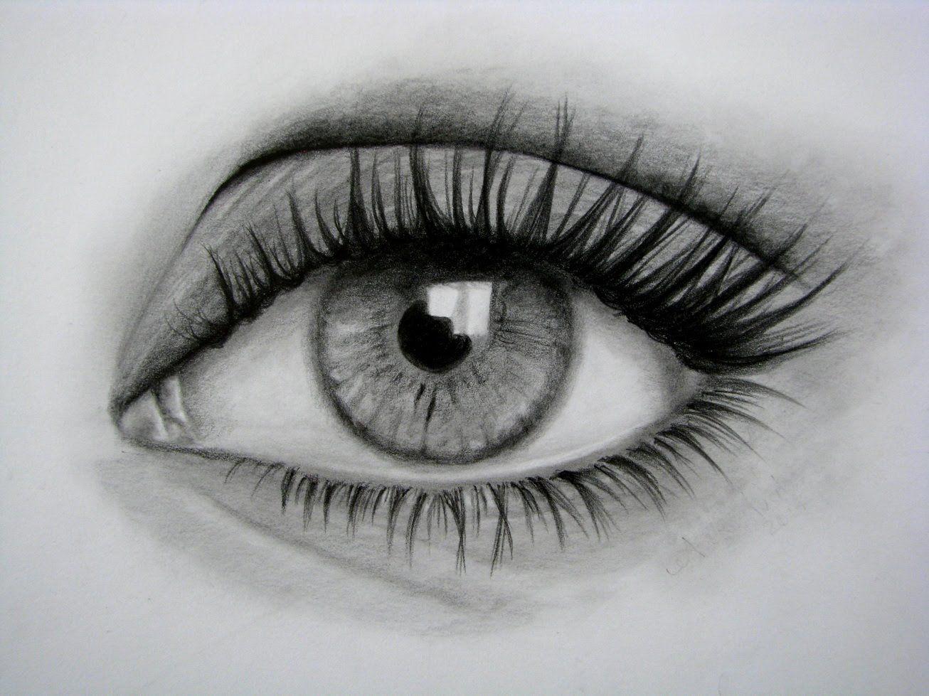 Dibuja Ojos A Lápiz Paso a Paso Fácil