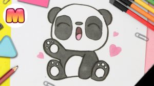 Cómo Dibujar Oso Panda Kawaii Fácil Paso a Paso