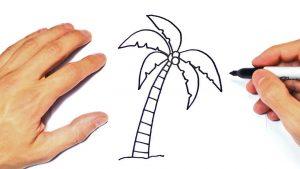 Cómo Dibuja Palmeras Paso a Paso Fácil