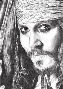 Cómo Dibujar Piratas Del Caribe Paso a Paso Fácil