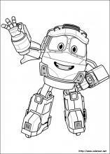 Dibujar Robot Trains Fácil Paso a Paso