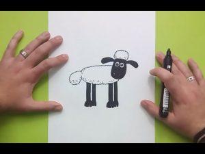 Cómo Dibuja Shaun Paso a Paso Fácil