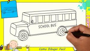 Cómo Dibuja Un Autobús Paso a Paso Fácil