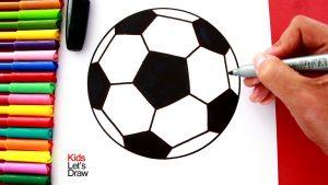Dibujar Un Balón De Fútbol Fácil Paso a Paso