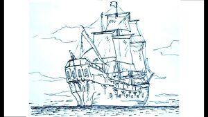 Cómo Dibujar Un Barco Pirata Fácil Paso a Paso