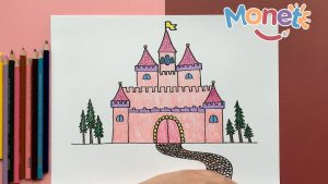 Dibuja Un Castillo Fácil Paso a Paso