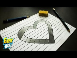 Cómo Dibuja Un Corazón En 3D Para San Valentín Paso a Paso Fácil