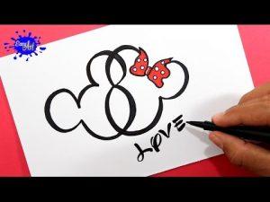 Cómo Dibujar Un Corazón Estilo Mickey Mouse Paso a Paso Fácil