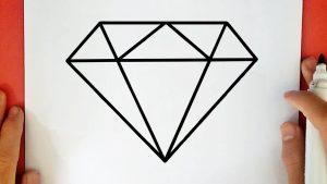 Cómo Dibuja Un Diamante Fácil Paso a Paso