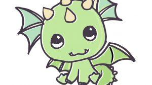 Cómo Dibujar Un Dragón Kawaii Paso a Paso Fácil
