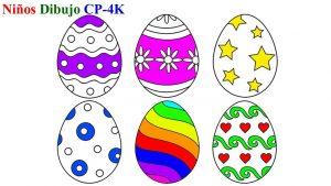 Cómo Dibuja Un Huevo De Pascua Fácil Paso a Paso