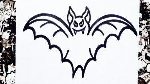 Cómo Dibujar Un Murciélago Para Halloween Fácil Paso a Paso