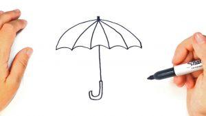 Dibujar Un Paraguas Fácil Paso a Paso