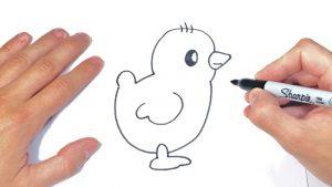 Dibujar Un Pollito Paso a Paso Fácil
