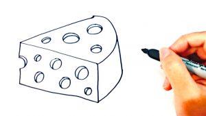 Dibuja Un Queso Paso a Paso Fácil