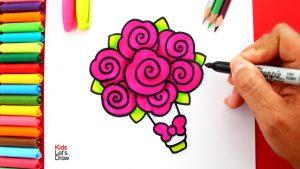 Dibujar Un Ramo De Flores Fácil Paso a Paso
