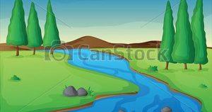 Cómo Dibujar Un Rio Fácil Paso a Paso