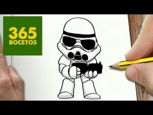 Dibujar Un Stormtrooper De Star Wars Fácil Paso a Paso